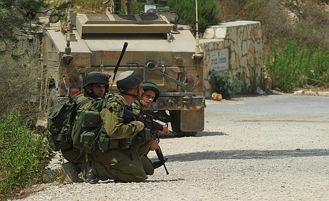 IDF soldiers at the Lebanese border