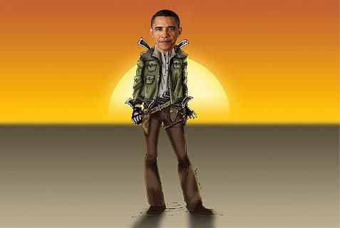 obama gunslinger