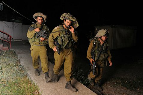IDF soldiers on routine patrol  near Hebron.