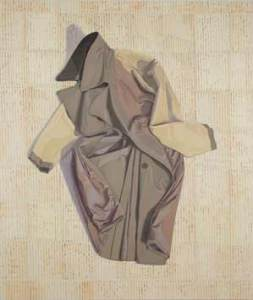 Inside-Out Overcoat (2013), [56 x 48] oil on linen by Ron Milewicz. Courtesy Elizabeth Harris Gallery.