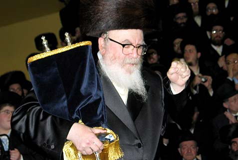 The Skverer Rebbe.