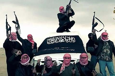Members of the Al Qaeda-linked radical Islamist Al-Nusra terrorist group in Syria.