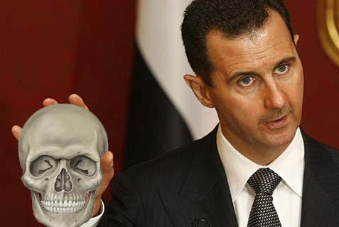 assad with skull