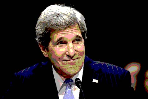 John Kerry is back in town,