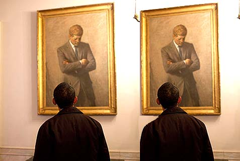 obama_looking_jfk_portrait