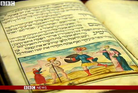 This 18th Century handwritten Passover Haggadah was discovered in a heap of rubbish.