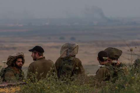 IDF infantry soldiers on the Golan Heights.