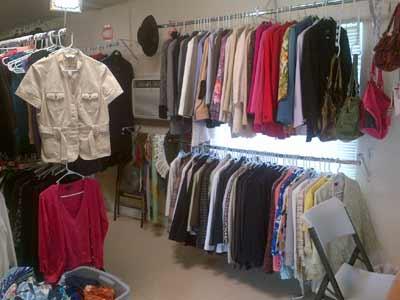 Beautifully stocked racks at The Closet