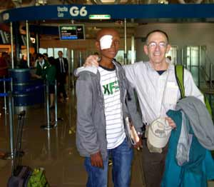 Befekadu and I in the airport in Rome