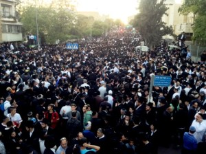 Crowds at Rav Ovadia's Funeral