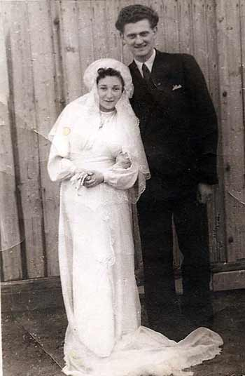 Lilly and Ludwig Friedman on their wedding day, Jan. 27, 1946.