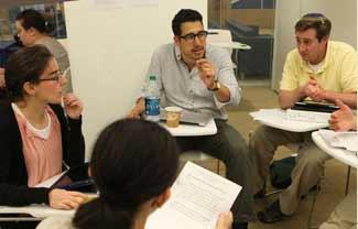 (L-R) Sara Smith of Los Angeles; Adam Eilath of Palo Alto, CA; and Shalom Kantor of Binghamton, NY.