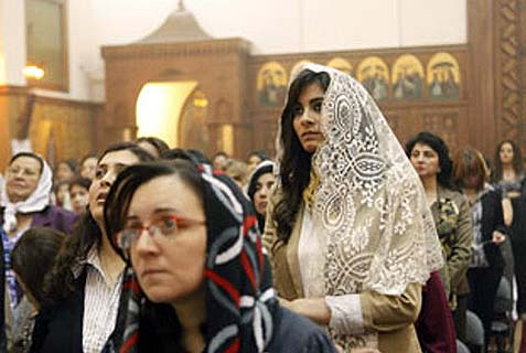 An Egyptian Coptic wedding party was fired upon on Sunday; 3, including an 8 yr old girl, were killed. (Illustration image)