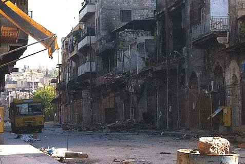 Devastation in Aleppo, Syria, site of one the world's oldest Jewish communities