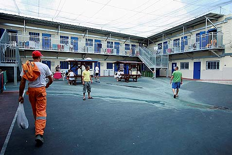Prisoners in Carmel prison, Northern Israel.