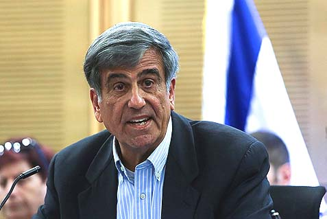 Likud Yisrael Beitenu MK Dr. Shimon Ohayon attending a special Knesset meeting against Antisemitism.