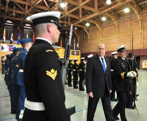 Israel's Defense Minister Moshe (Boogie) Yaalon visits the Canadian War Museum in Ottawa, Ontario.