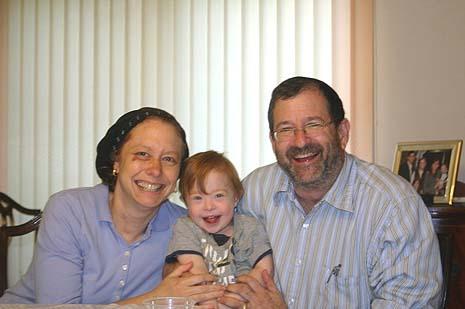 Randi and Michael Lipkin with Yisrael (photo credit: courtesy Michael Lipkin)