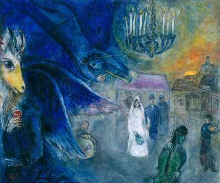 The Wedding Candles (1945); oil on canvas by Marc Chagall. Kunsthaus Zurich. © 2013 Artists Rights Society (ARS), New York / ADAGP, Paris