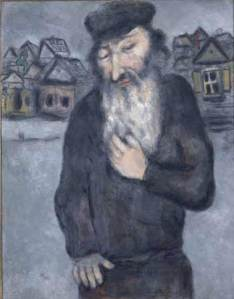 Untitled (Old Man with Beard) c 1931; Gouache & watercolor on paper by Marc Chagall.  Courtesy The Jewish Museum, New York, © 2013 Artists Rights Society (ARS), New York / ADAGP, Paris