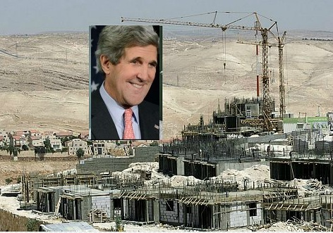 John Kerry, Israel's de facto Housing Minister and Mahmoud Abbas' de facto negotiator