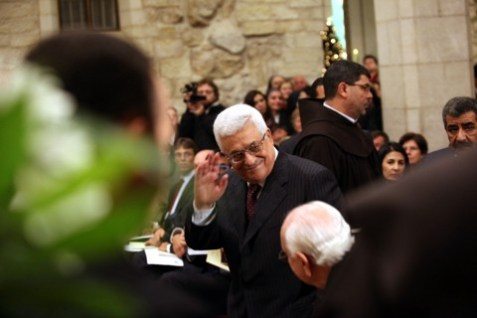 Mahmoud Abbas in the Church of Nativity