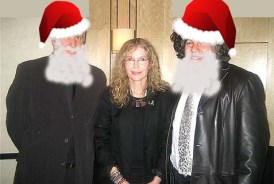 "Bernie Farber (L) and Avrum Rosensweig (R) with film star Mia Farrow who has no connection to this diatribe. Their article ""A Jewish take on the meaning of Christmas"" both took my breath away and made my skin crawl."