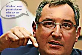 Russian Deputy Prime Minister Rogozin said his country can use nukes to retaliate even against conventional weapons.