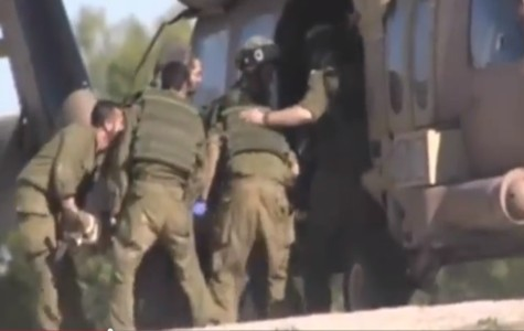 Injured civilian being evacuated by IDF 669 Rescue Unit.