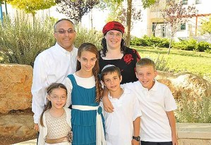 The Mann Family of Efrat (photo courtesy Dina Mann)
