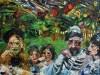 Sukkoth (54x50) oil on canvas by Simon Gaon. Courtesy the artist.