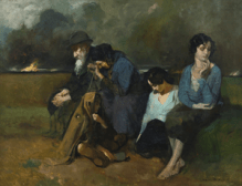 Pogrom Survivors, (1918) oil on canvas by Alfred Lakos Courtesy Sotheby's