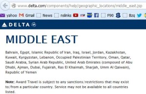 Occupied palestinian delta