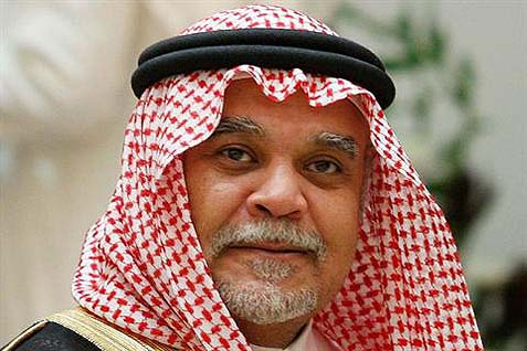 Prince Bandar bin Sultan bin Abdulaziz Al Saud, the Kingdom's chief of intelligence.