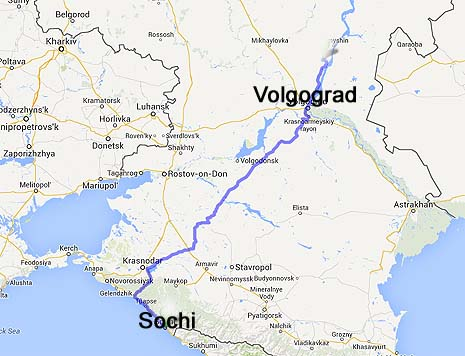Volgograd and Sochi