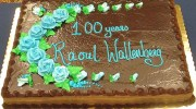 A cake, celebrating 100 years since the birth of Raoul Wallenberg, whose heroic acts saved upwards of 100,000 lives.