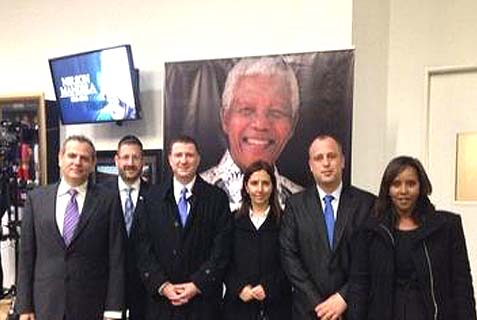 The Israeli delegation to the Mandela funeral.