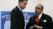 Rep. Charlie Rangel with Obama.