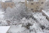 Tel Rumeida, or Tel Hebron, the site believed to be Biblical Hebron, was under a silent blanket of snow this morning.