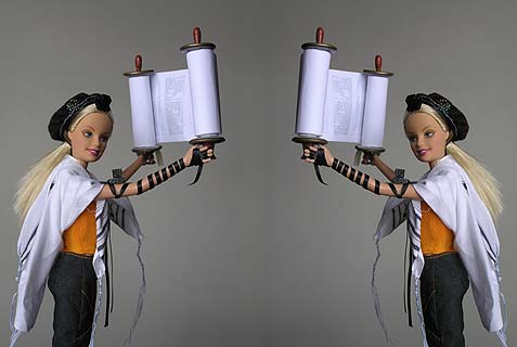 "Original image Credit: Jen Taylor Friedman - Soferet (Torah scribe) and creator of ""Tefillin Barbie"""