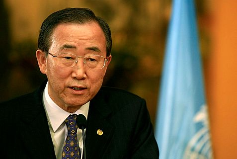 Secretary General Ban Ki-Moon grants Israel the right to defend itself so long as it doesn't.