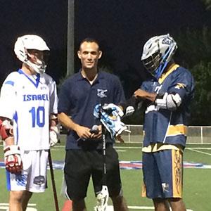 Jordan Karp (left) with lacrosse player Chazz Woodson.