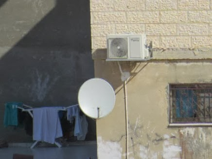 Satellite TV Dish on MK Taleb Abu Arar's home  -- taken 22/1/2014 Photo by Meir Deutch, Regavim