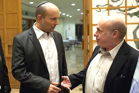 Natan Sharansky with Jewisih Home leader Naftali Bennett