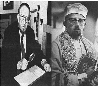 Photos of Rabbi Avigdor from 1993 and circa 1962, courtesy of the Jewish Historical Society of Greater Hartford.