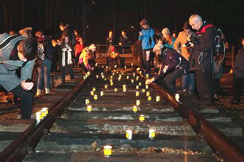 candles on tracks