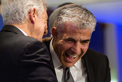 lapid laughing