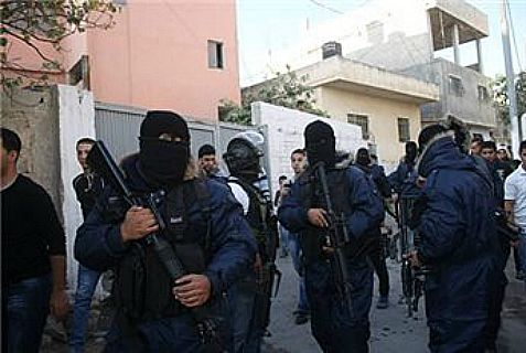 "Palestinian Authority ""policemen."""