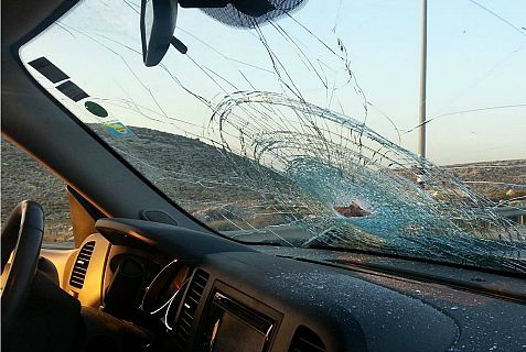 Drivers and passengers miraculously escaped injury in a massive Arab rock attack on cars in western Samaria Wednesday evening.