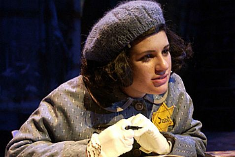Lea Michele in a 2005 production of The Diary of Anne Frank.